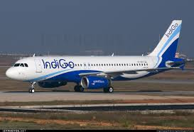 Indigo plane touching down